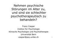 Nehmen psychische Störungen im Alter zu, und sind - Senioren ...
