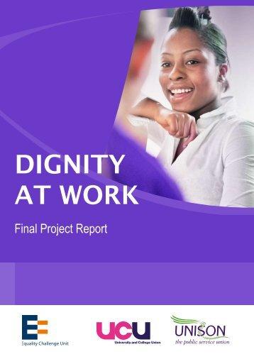 DIGNITY AT WORK - UCU