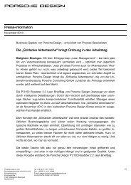 Pressemitteilung - PORSCHE DESIGN Presseportal
