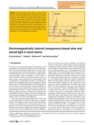 Electromagnetically induced transparency-based slow and stored ...