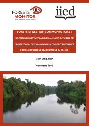 FORETS ET GESTION COMMUNAUTAIRE : - Forests Monitor