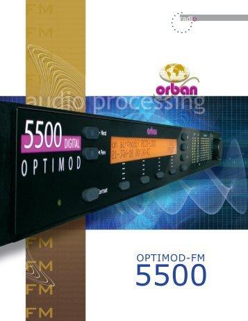 OPTIMOD-FM 5500 R 10 - Orban
