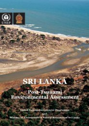 SRI LANKA - Disasters and Conflicts - UNEP