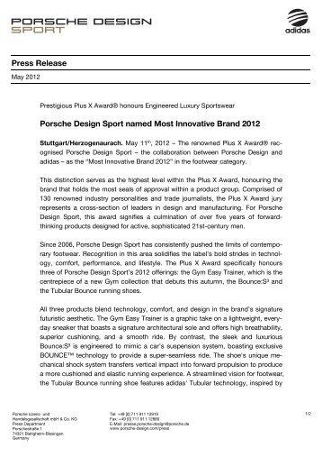 Press Release - PORSCHE DESIGN Presseportal