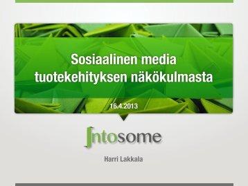 Katsaus tuotekehityksen sosiaalisen median työkaluihin
