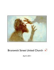 Lori Beth Sheffield-Bowles - Brunswick Street United Church