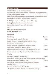 Weinkarte Zum Hut Wir führen Weine aus der Schweiz und Europa ...