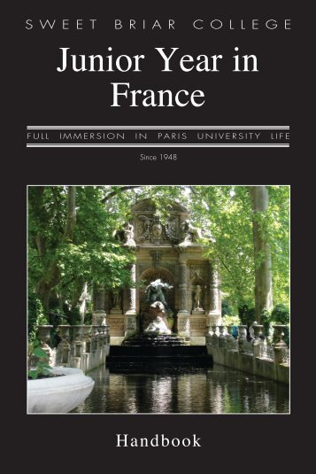 Paris Handbook - Sweet Briar College