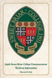 Commencement Ceremony - Sweet Briar College