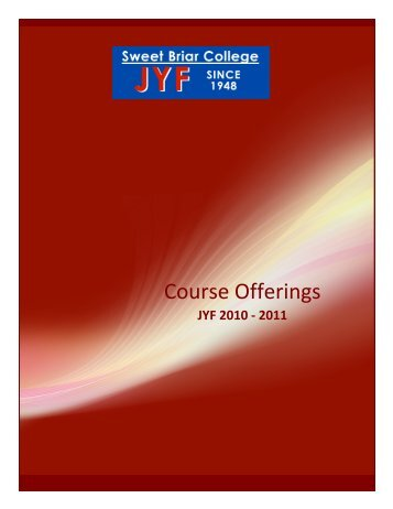 Brochure - English translations of course offerings