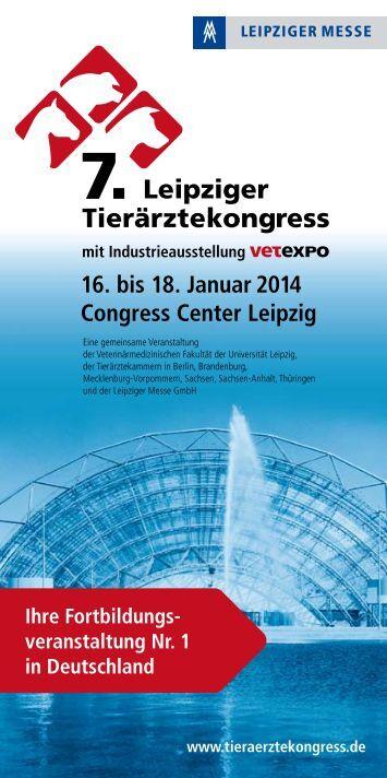 Vorankündigung - Leipziger Tierärztekongress