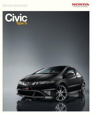 Honda civic type s accessories
