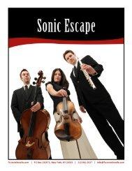 www.fluteviolincello.com | PO Box 231571, New ... - Sonic Escape