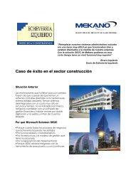 Caso de éxito en el sector construcción - Mekano