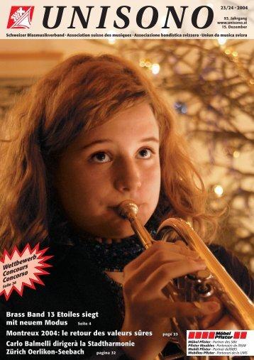 Brass Band 13 Etoiles siegt mit neuem Modus Montreux 2004: le ...