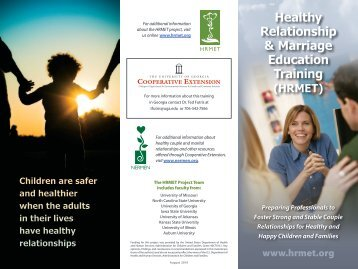 Healthy Relationship & Marriage Education Training - University of ...