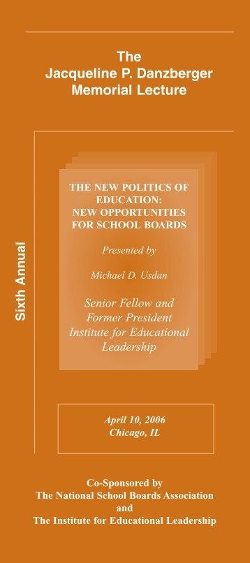 2006 - Institute for Educational Leadership