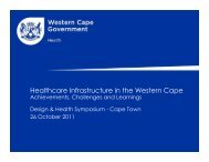 Healthcare Infrastructure in the Western Cape: Achievements and ...