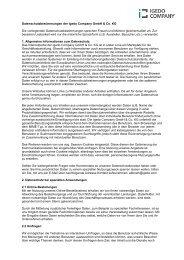 Datenschutzbestimmungen der Igedo Company GmbH & Co. KG ...
