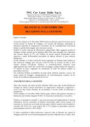 ING Car Lease Italia S.p.A. - Assilea