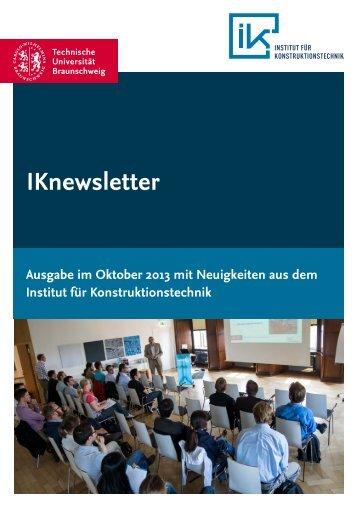 Oktober 2013 - Institut für Konstruktionstechnik - Technische ...