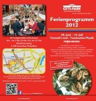Ferienprogramm 2012 - CITTI-PARK Kiel