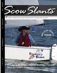 38084 Scow Slants-summer 08 - Inland Lake Yachting Association