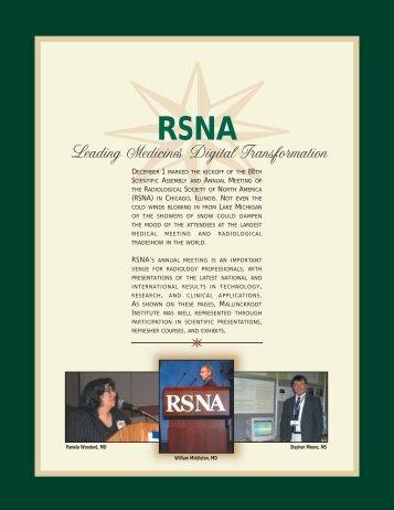 RSNA (PDF*) - Mallinckrodt Institute of Radiology
