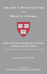 the john t. dunlop lecture henry g. cisneros - Joint Center for ...