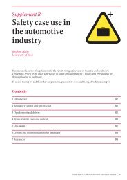 Safety case use in the automotive industry - Health Foundation