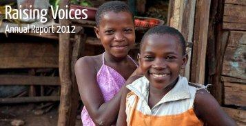 2012 Annual Report - Raising Voices