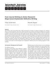 From Journal Writing to Action Research - Zeitschrift Schreiben
