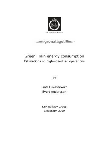Green Train energy consumption - Gröna Tåget