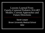 Lessons Learned From Family-Centered Pediatric HAART Models ...