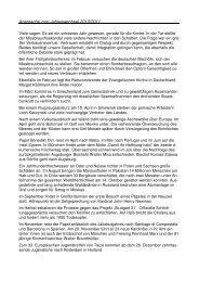 Ansprache zum Jahreswechsel 2010/2011 - Katholische ...