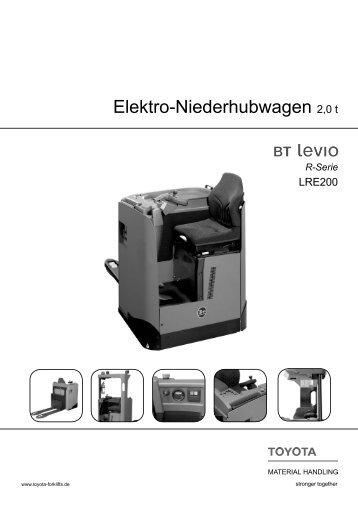 Elektro-Niederhubwagen Levio LRE200 - Toyota Material Handling ...