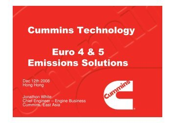 Cummins Technology Euro 4 & 5 Emissions Solutions
