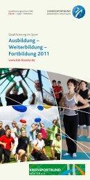 Ausbildung – Weiterbildung – Fortbildung 2011 - FLVW Kreis ...