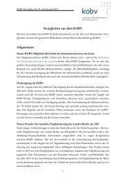 KOBV-Newsletter Nr. 22 - Juli/August 2012