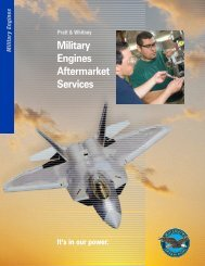 Military Engines Aftermarket Services - Pratt & Whitney