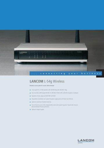 LANCOM L-54g Wireless - LANCOM Systems