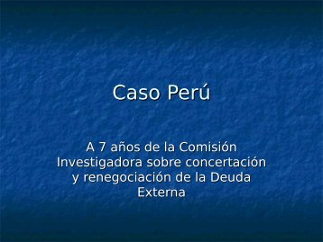 Caso Perú - OID