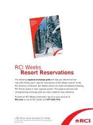 RCI Weeks Resort Reservations - RCI.com