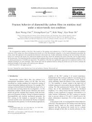 Fracture behavior of diamond-like carbon films on stainless steel ...
