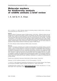 Molecular markers for biodiversity analysis of wildlife animals ... - Raco