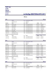 vorläufige BESTENLISTE 2011 - FLVW-Kreis Siegen-Wittgenstein