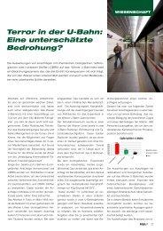Terror in der U-Bahn: Eine unterschätzte Bedrohung? - Kripo.at