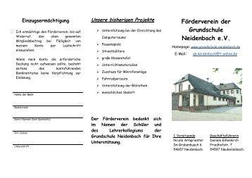 Förderverein der Grundschule Neidenbach e.V.
