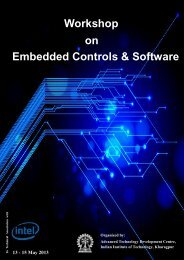 Workshop Embedded Controls & Software on - Indian Institute of ...