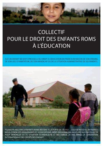 COLLECTIF POUR LE DROIT DES ENFANTS ROMS ... - Romeurope
